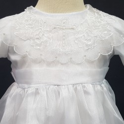Holy Cross Embroidered Christening Gown