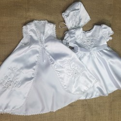 3 Piece Floral Christening Dress