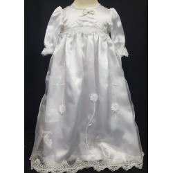 Slip on Floral Christening Gown