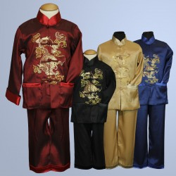 Chinese Oriental Boys 2 Piece Set