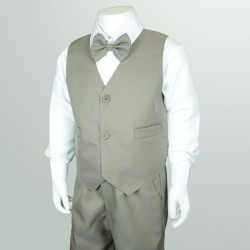 4PC Light Brown Page Boy Suit