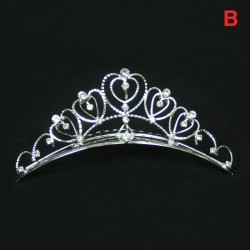 Large Rhinestone Tiara Headpiece