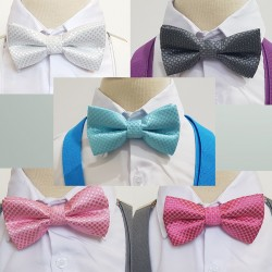 Boys Ribbed Colour Bowtie