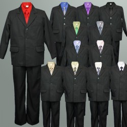 Pinstripe Jacket Suit Coloured Shirt