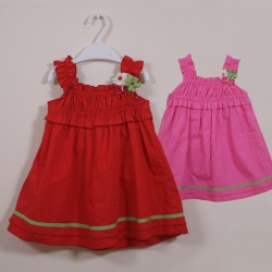 Red Pink Summer Cotton Dress