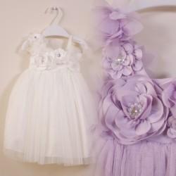 Garden Floral Flowergirl Tulle Dress