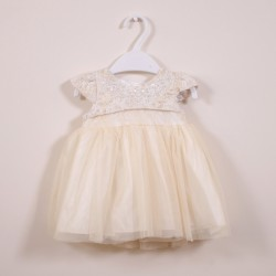 Champagne Flowergirl Party Dress
