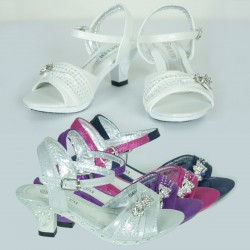 Glittering Pageant High Heel Colour Shoe