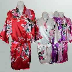 Bridal Wedding and Casual Kimono Bathrobe