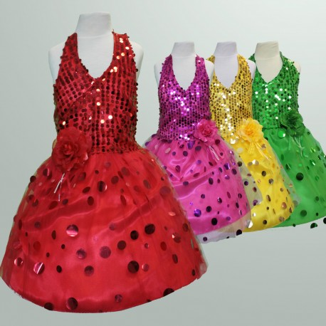 Sparkling Girls Pageant Party Dress