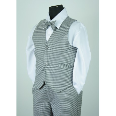 Houndstooth Vest Suit