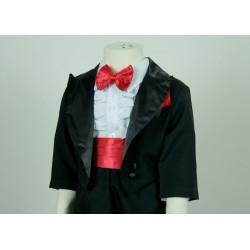 TT14 Boys Black Tuxedo Suit