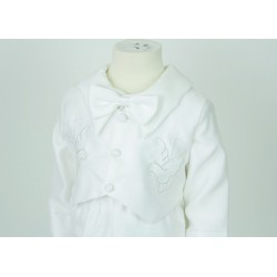 BB11 Boys Christening 2 piece Dove Embroidery
