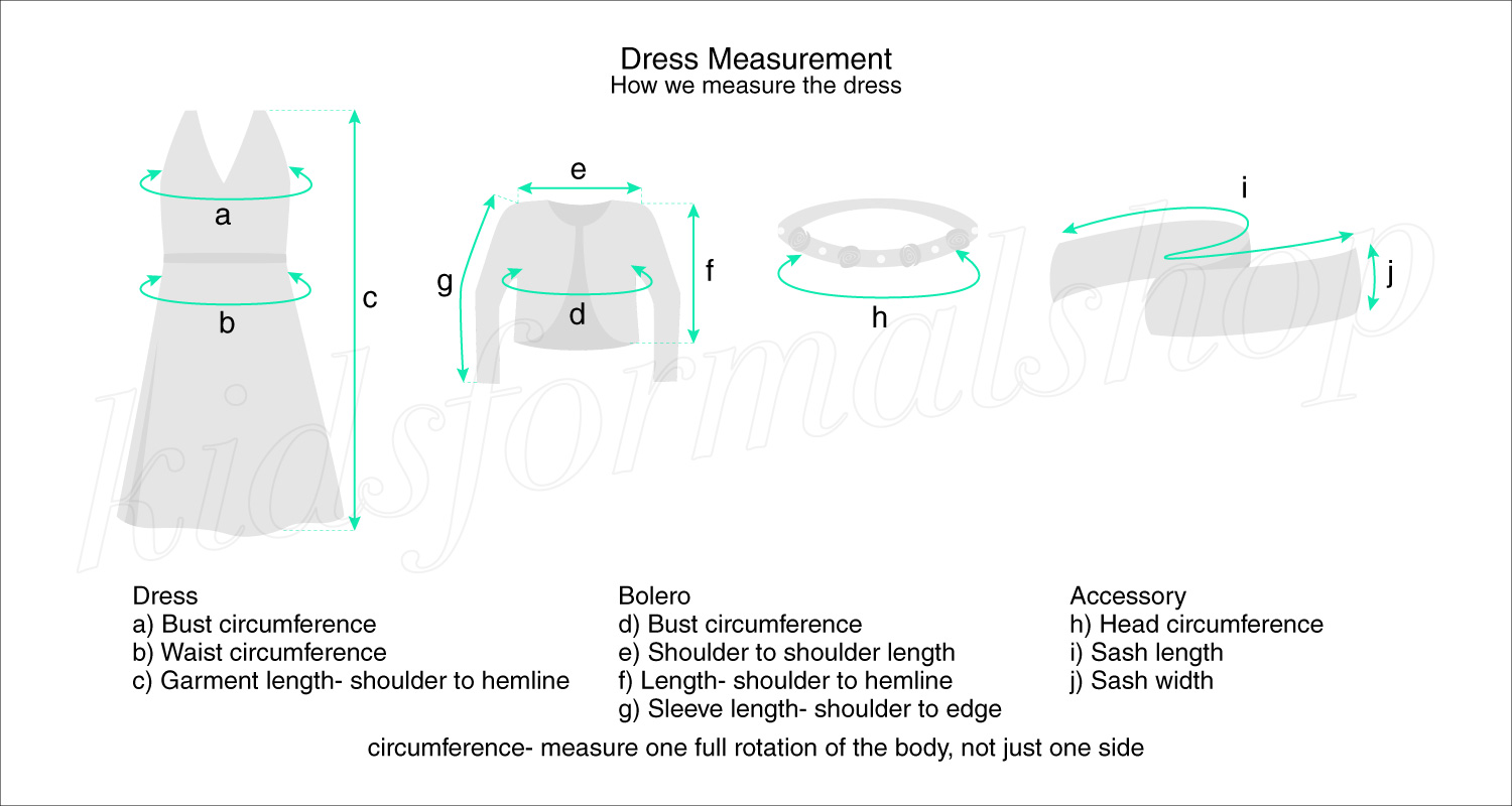 dress measurement diagram